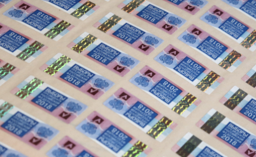 Защитные марки для бюллетеней навыборы Президента доставили вХабаровск